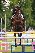 Mr Sneezy ridden by James Avery in the Equi-Trek CCI-4* Show Jumping during the Bramham International Horse Trials 2019 at Bramham Park, Bramham, United Kingdom on 9 June 2019.