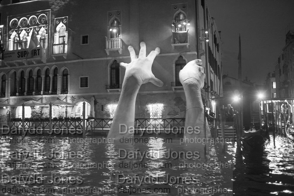 LORENZO QUINN WORK,  Support,  Ca' Sagredo,, Venice Biennale,  Venice, Friday 12  May 2017