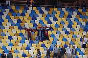 LVIV - UKRAINA, 2017-09-14: Tillresta &Ouml;stersund-Fans jublar efter segern i UEFA Europa League group J matchen mellan Zorya Lugansk och &Ouml;stersunds FK p&aring; Arena Lviv den 14 september, 2017 in Lviv, Ukraina. Foto: Nils Petter Nilsson/Ombrello<br /> ***BETALBILD***