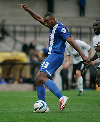 Peterborough United's Tyrone Barnett scores - Photo mandatory by-line: Joe Dent/JMP - Tel: Mobile: 07966 386802 12/10/2013 - SPORT - FOOTBALL - Vale Park - Stoke-on-Trent - Port Vale V Peterborough United - Sky Bet League 1