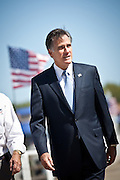Republican presidential candidate Mitt Romney during a visit to the USS Yorktown museum on October 6, 2011 in Charleston, South Carolina. Romney addressed a group of veterans and called for increased military spending to maintain national security.