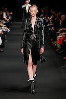 Nastya Sten (The Society) walks the runway wearing Altuzarra Fall 2015 during Mercedes-Benz Fashion Week in New York on February 14, 2015