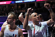 Julien Gobaux (France) with the coach during the European Championships Glasgow 2018, Team Men Final at The SSE Hydro in Glasgow, Great Britain, Day 10, on August 11, 2018 - Photo Laurent Lairys / ProSportsImages / DPPI