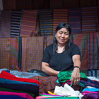 Woman at a market in Thimpu<br />