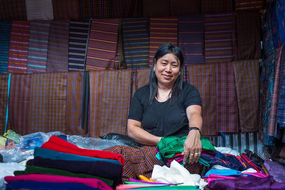 Woman at a market in Thimpu<br /> <br /> Full photoessay at http://xpatmatt.com/photos/bhutan-photos/