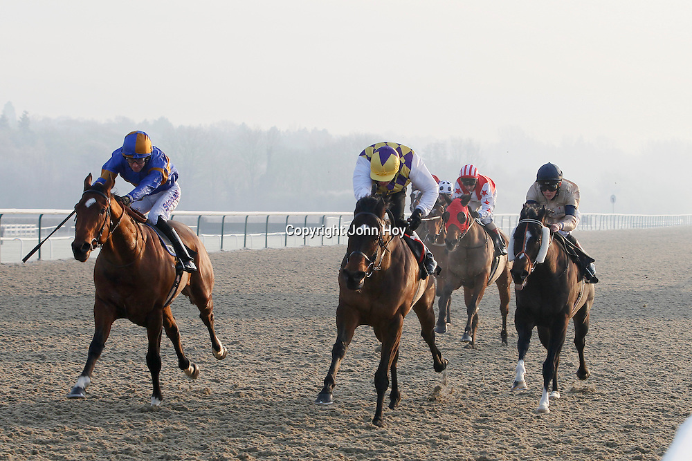 Sir Trader and T Eaves winning the 2.30 race
