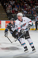 KELOWNA, CANADA - APRIL 12: Joe Gatenby #28 of Kelowna Rockets skates against the Victoria Royals on April 12, 2016 at Prospera Place in Kelowna, British Columbia, Canada.  (Photo by Marissa Baecker/Shoot the Breeze)  *** Local Caption *** Joe Gatenby;