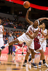 Virginia guard Enonge Stovall (40) grabs a rebound against Rider.  The #15 ranked Virginia Cavaliers defeated the Rider Broncs 83-38 in the Marriott Cavalier Classic Basketball Tournament at the John Paul Jones Arena on the Grounds of the University of Virginia in Charlottesville, VA on December 28, 2008.