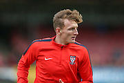 York City defender, on loan from Huddersfield Town, William Boyle  during the Sky Bet League 2 match between York City and Morecambe at Bootham Crescent, York, England on 19 December 2015. Photo by Simon Davies.