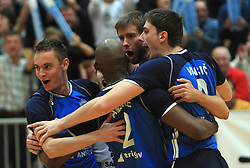 Team Salonit (Dario Savicic) at finals of Slovenian volleyball cup between OK ACH Volley and OK Salonit Anhovo Kanal, on December 27, 2008, in Nova Gorica, Slovenia. ACH Volley won 3:2.(Photo by Vid Ponikvar / SportIda).