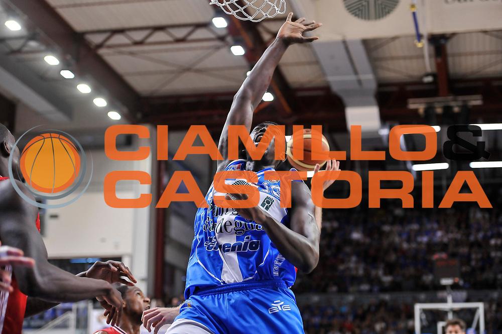 DESCRIZIONE : Campionato 2014/15 Dinamo Banco di Sardegna Sassari - Olimpia EA7 Emporio Armani Milano Playoff Semifinale Gara6<br /> GIOCATORE : Cheikh Mbodj<br /> CATEGORIA : Curiosit&agrave; Rimbalzo<br /> SQUADRA : Dinamo Banco di Sardegna Sassari<br /> EVENTO : LegaBasket Serie A Beko 2014/2015 Playoff Semifinale Gara6<br /> GARA : Dinamo Banco di Sardegna Sassari - Olimpia EA7 Emporio Armani Milano Gara6<br /> DATA : 08/06/2015<br /> SPORT : Pallacanestro <br /> AUTORE : Agenzia Ciamillo-Castoria/L.Canu