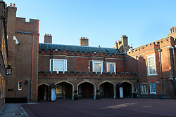 General view of St James's Palace located in Westminster, London. It is currently the official London residence of the Princess Royal; Princess Beatrice of York; Princess Eugenie of York; and Princess Alexandra, The Honourable Lady Ogilvy.<br />