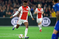 Ryan Gravenberch #29 of Ajax in action during the Europa League match R32 second leg between Ajax and Getafe at Johan Cruyff Arena on February 27, 2020 in Amsterdam, Netherlands