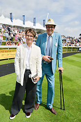 SOPHIE HICKS and RODDY CAMPBELL at the 2014 Glorious Goodwood Racing Festival at Goodwood racecourse, West Sussex on 31st July 2014.