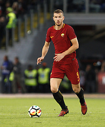 October 25, 2017 - Rome, Italy - Roma Edin Dzeko in action during the Serie A soccer match between Roma and Crotone at the Olympic stadium. (Credit Image: © Riccardo De Luca/Pacific Press via ZUMA Wire)