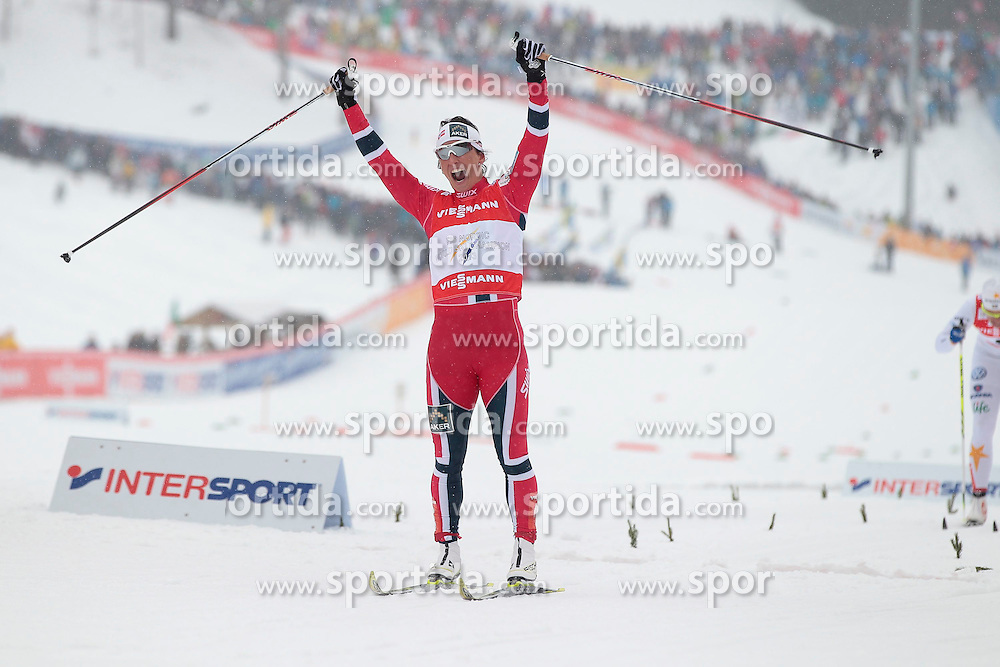 21.02.2013, Langlaufstadion, Lago di Tesero, ITA, FIS Weltmeisterschaften Ski Nordisch, Langlauf Damen, Sprint, im Bild Marit Bjoergen (NOR) // Marit Bjoergen of Norway during the Ladies Cross Country Sprint of the FIS Nordic Ski World Championships 2013 at the Cross Country Stadium, Lago di Tesero, Italy on 2013/02/21. EXPA Pictures ©  2013, PhotoCredit: EXPA/ Federico Modica