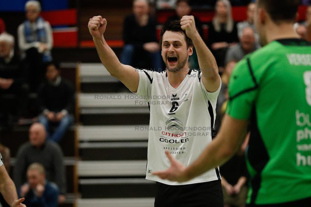 20170225 NED: Eredivisie, Valei Volleybal Prins - Coolen - Alterno: Ede<br />Guido Spooren of Coolen Alterno<br />©2017-FotoHoogendoorn.nl / Pim Waslander