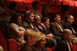 Independent candidate for governor Drew Curtis sat in the crowd during while Democrat Jack Conway faced Republican Matt Bevin in a gubernatorial debate, Tuesday, Oct. 06, 2015 at Newlin Hall at Centre College in Danville. Curtis did not meet the polling data percent that allowed the candidates to participate in the debate. <br /> <br /> Photo by Jonathan Palmer, Special to the CJ