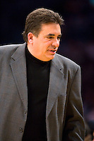 27 March 2007: Head Coach Tony Barone of the Memphis Grizzlies coaches against the Los Angeles Lakers during the Grizzlies 88-86 victory over the Lakers at the STAPLES Center in Los Angeles, CA.