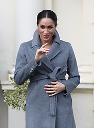 The Duchess of Sussex departs after a visit to the Royal Variety Charity's residential nursing and care home, Brinsworth House, in Twickenham, west London.