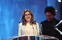 Lisa Loeb and Tom Jones, The BRIT Awards 1995 <br /> Monday 20 Feb 1995.<br /> Alexandra Palace, London, England<br /> Photo: JM Enternational