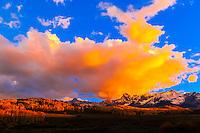 Autumn color, the Sneffels Range along the Dallas Divide, near Ridgway, Colorado USA.
