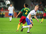 CAPE TOWN, SOUTH AFRICA- Thursday 24 June 2010, Dirk Kuyt during the match between the Netherlands (Holland) and Cameroon held at the new Cape Town Stadium in Green Point during the 2010 FIFA World Cup..Photo by Roger Sedres/Image SA