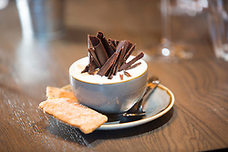 The chocolate pot for dessert. Tam Cowan restaurant review, The Printing Press, Carlton George Hotel, George Street, Edinburgh