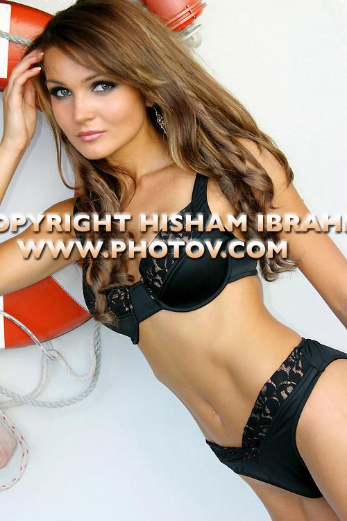 Sexy young Russian woman in black bikini, Washington DC
