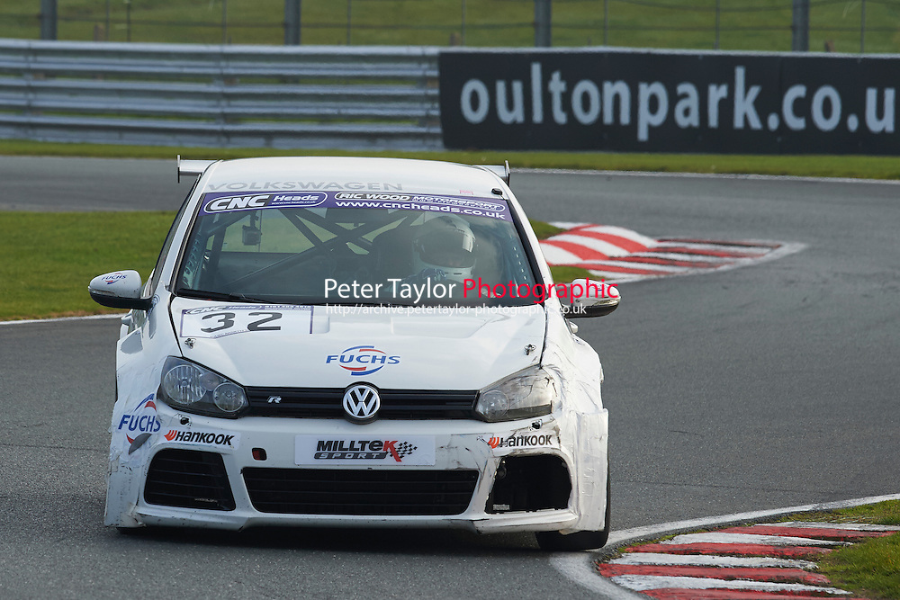 #32 Philip MORRIS Volkswagen Golf GTi MkVI during CNC Heads Sports/Saloon Championship - Race 2  as part of the BARC Championships Race Day at Oulton Park, Little Budworth, Cheshire, United Kingdom. October 03 2015. World Copyright Taylor/PSP. Copy of publication required for printed pictures.  Every used picture is fee-liable. http://archive.petertaylor-photographic.co.uk