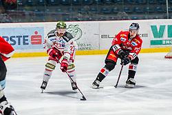 13.01.2019, Ice Rink, Znojmo, CZE, EBEL, HC Orli Znojmo vs HCB Suedtirol Alperia, 38. Runde, im Bild v.l. Stefano Marchetti (HCB Sudtirol Alperia) Marek Kalus (HC Orli Znojmo) // during the Erste Bank Eishockey League 38th round match between HC Orli Znojmo and HCB Suedtirol Alperia at the Ice Rink in Znojmo, Czechia on 2019/01/13. EXPA Pictures © 2019, PhotoCredit: EXPA/ Rostislav Pfeffer