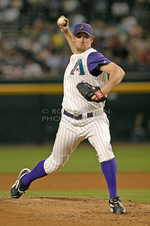 Phoenix, AZ-05-13-04 Arizona Diamondbacks pitcher Brandon Webb throws one in a losing effort against the NY Mets. Webb pitched 6.1 innings with 6 hits and 5 runs. the Mets won 7-4. Ross Mason photo