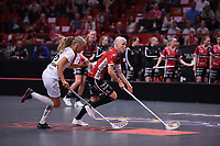 2019-04-27 | Stockholm, Sweden: Kais Mora IF (5) Anna Wijk during the game between KAIS Mora IF and Täby FC IBK at Ericsson Globe Arena ( Photo by: Simon Holmgren | Swe Press Photo )<br /> <br /> Keywords: Ericsson Globe Arena, Stockholm, Floorball, SM-Final, KAIS Mora IF, Täby FC IBK