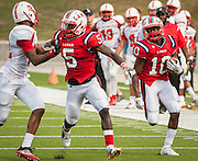 during a football game between Bellaire High School and Lamar High School at Delmar Stadium, October 21, 2016.