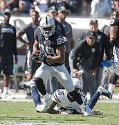 Oct 09 2016 - Oakland U.S. CA - Raiders wide receiver Amari Cooper #89 games stats 6 catches for 138 yards and 1 TD during the NFL Football game between San Diego Chargers and the Oakland Raiders 34-31 win at O.co Coliseum Stadium Oakland Calif. Thurman James / CSM
