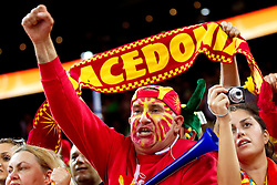 Fans of Macedonia during basketball game between National basketball teams of F.Y.R. of Macedonia and Russia of 3rd place game of FIBA Europe Eurobasket Lithuania 2011, on September 18, 2011, in Arena Zalgirio, Kaunas, Lithuania. (Photo by Vid Ponikvar / Sportida)