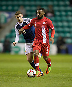 Canada&rsquo;s David Junior Hoilett and Scotland&rsquo;s Tom Cairney - Scotland v Canada, friendly international at EasterRoad, Edinburgh.Photo: David Young<br /> <br />  - &copy; David Young - www.davidyoungphoto.co.uk - email: davidyoungphoto@gmail.com