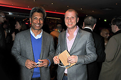 Left to right, DES GUNEWARDENA and Floridita's senior General Mangager, NIELS KRISTENSEN at a party to celebrate the opening of the Rum Shack, Floridita, 100 Wardour Street, London on 1st February 2013.