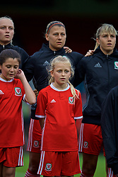 NEWPORT, WALES - Tuesday, September 3, 2019: A Wales mascot during the UEFA Women Euro 2021 Qualifying Group C match between Wales and Northern Ireland at Rodney Parade. (Pic by David Rawcliffe/Propaganda)