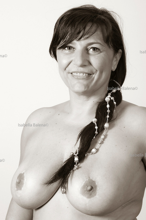 "Simona F., portrait from a book ""A seno nudo"" by Cristina Garusi"
