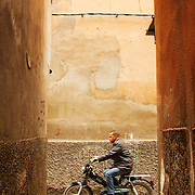 Scooter at one of the narrow streets of Marrakesh's Medina