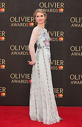 Jessica Swale arriving for The Olivier Awards at the Royal Albert Hall in London.