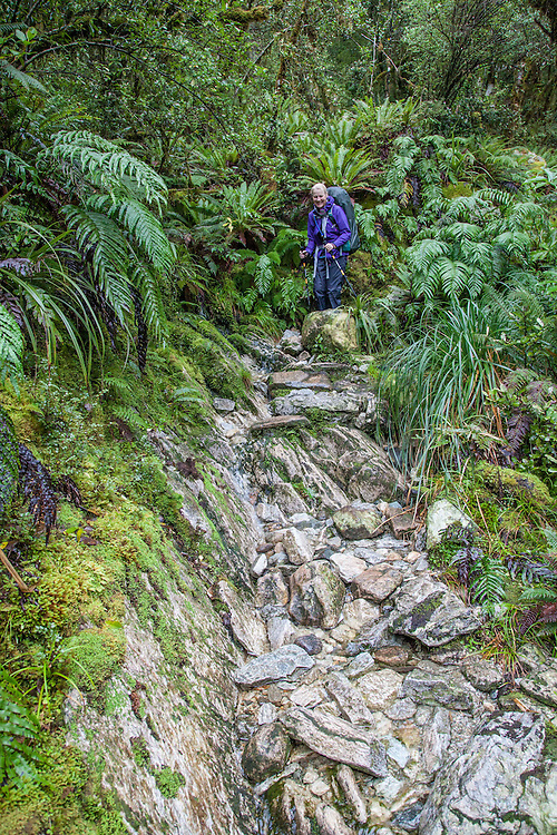 Still the endless challenging descent, picking your path down rockfalls in some cases waterfalls.