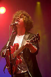 Kyle Falconer of the Scottish band, The View, headline on the Clash Arena. Rockness, Saturday 7th June 2008..Pic © Michael Schofield. All Rights Reserved.