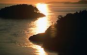 Deception Pass at sunset