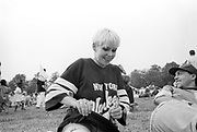 Female holding a joint,Moss Side Carnival, Alexandra Park, Manchester, 1989