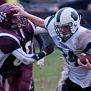 October 24, 2009 - Bronx, NY : The Forman offense, as well as a steady downpour, pummeled Horace Mann's football team on Saturday at homecoming.  The 40-0 loss brought the Lions to 0-4 on the season.  The Lions had difficulty containing Forman's running game.