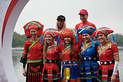 Celebrated riders dress in the local traditional robes at GREE Tour of Guangxi Women's World Tour 2018, a 145.8 km road race in Guilin, China on October 21, 2018. Photo by Sean Robinson/velofocus.com