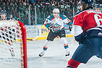 KELOWNA, CANADA - MARCH 27: Leon Draisaitl #29 of Kelowna Rockets skates against the Tri-City Americans on March 27, 2015 at Prospera Place in Kelowna, British Columbia, Canada.  (Photo by Marissa Baecker/Shoot the Breeze)  *** Local Caption *** Leon Draisaitl;