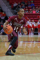 29 January 2017: Rishonda Napier during an College Missouri Valley Conference Women's Basketball game between Illinois State University Redbirds the Salukis of Southern Illinois at Redbird Arena in Normal Illinois.